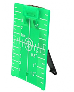 TARGET PLATE  LT-G105 WITH FOLDING STAND AND MAGNETS FOR VISUALIZATIONS OF GREEN LASERS LINES