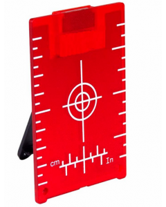 TARGET PLATE  LT-R105 WITH FOLDING STAND AND MAGNETS FOR VISUALIZATIONS OF RED LASERS LINES